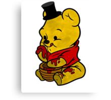 Freddy Fazbear & Winnie the Pooh Mashup Canvas Print