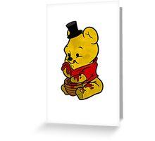 Freddy Fazbear & Winnie the Pooh Mashup Greeting Card