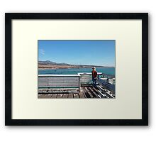 Out at the Pier Framed Print