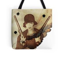 Louise Brooks  and her guns Tote Bag