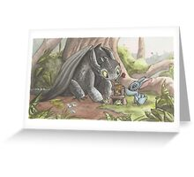 Toothless & Stitch Greeting Card