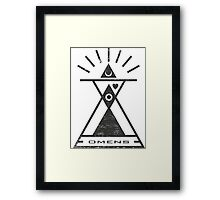 Omens - Typography and Geometry Framed Print