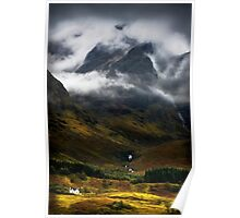 Blaven and malevolent weather. Isle of Skye, Scotland. Poster