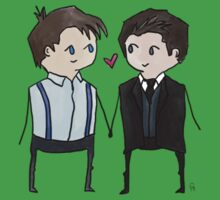 Jack And Ianto Chibis Kids Tee