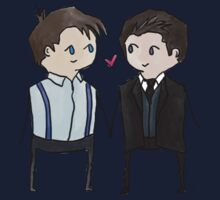 Jack And Ianto Chibis Baby Tee
