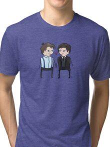 Jack And Ianto Chibis Tri-blend T-Shirt