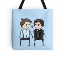 Jack And Ianto Chibis Tote Bag