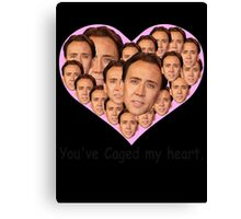 You've caged my heart Canvas Print