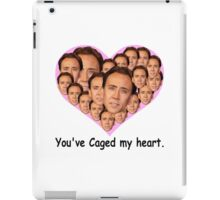 You've caged my heart iPad Case/Skin