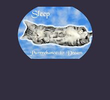 Sleep, Purrrchance to Dream Womens Fitted T-Shirt