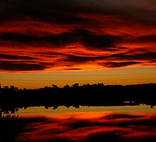 Sunset over the Lagoon by Duncan Drummond