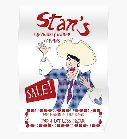 Monkey Island - Stan's coffins Poster