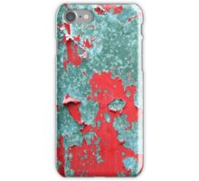 Peeling Red Paint Texture iPhone Case/Skin