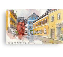 Travelsketch- Town of Hallstatt in Austria Canvas Print