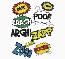 Comic Sound Effects Kids Tee
