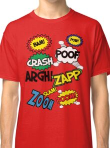 Comic Sound Effects Classic T-Shirt