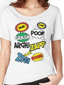 Comic Sound Effects Women's Relaxed Fit T-Shirt