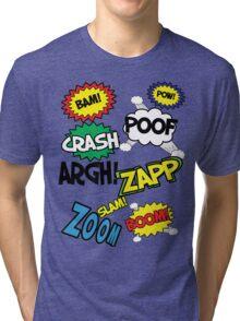 Comic Sound Effects Tri-blend T-Shirt
