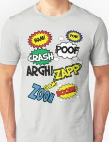 Comic Sound Effects Unisex T-Shirt