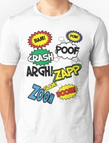 Comic Sound Effects T-Shirt