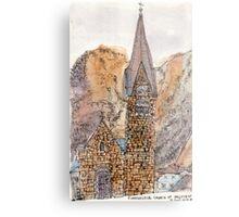 Travelsketch- Church in Hallstatt, Austria Metal Print