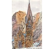 Travelsketch- Church in Hallstatt, Austria Photographic Print