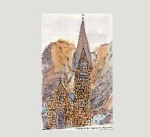 Travelsketch- Church in Hallstatt, Austria Unisex T-Shirt