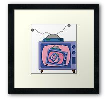 crazy tv simpsons Framed Print
