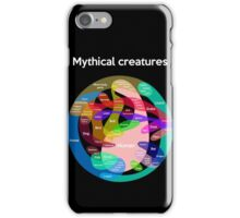 Epic Mythical Creatures Chart iPhone Case/Skin