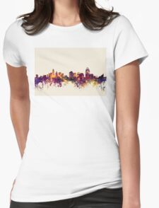 Cincinnati Ohio Skyline Womens Fitted T-Shirt
