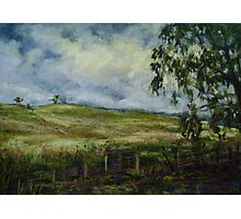 Storm brewing, Mudgee, NSW Photographic Print