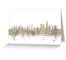 London England Skyline Sheet Music Cityscape Greeting Card