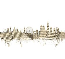 London England Skyline Sheet Music Cityscape Photographic Print