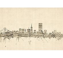 San Francisco Skyline Sheet Music Cityscape Photographic Print