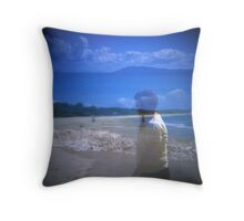By the Sea shore Throw Pillow