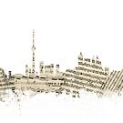 Toronto Canada Skyline Sheet Music Cityscape by Michael Tompsett
