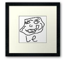 Le meme de la trollé  Framed Print