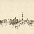 Washington DC Skyline Sheet Music Cityscape by Michael Tompsett