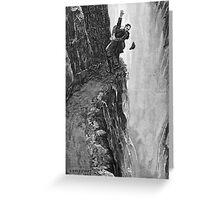 Sydney Paget - Fantastic print from Sherlock Holmes The Final Problem / Reichenbach Falls Greeting Card