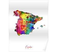 Spain Watercolor Map Poster