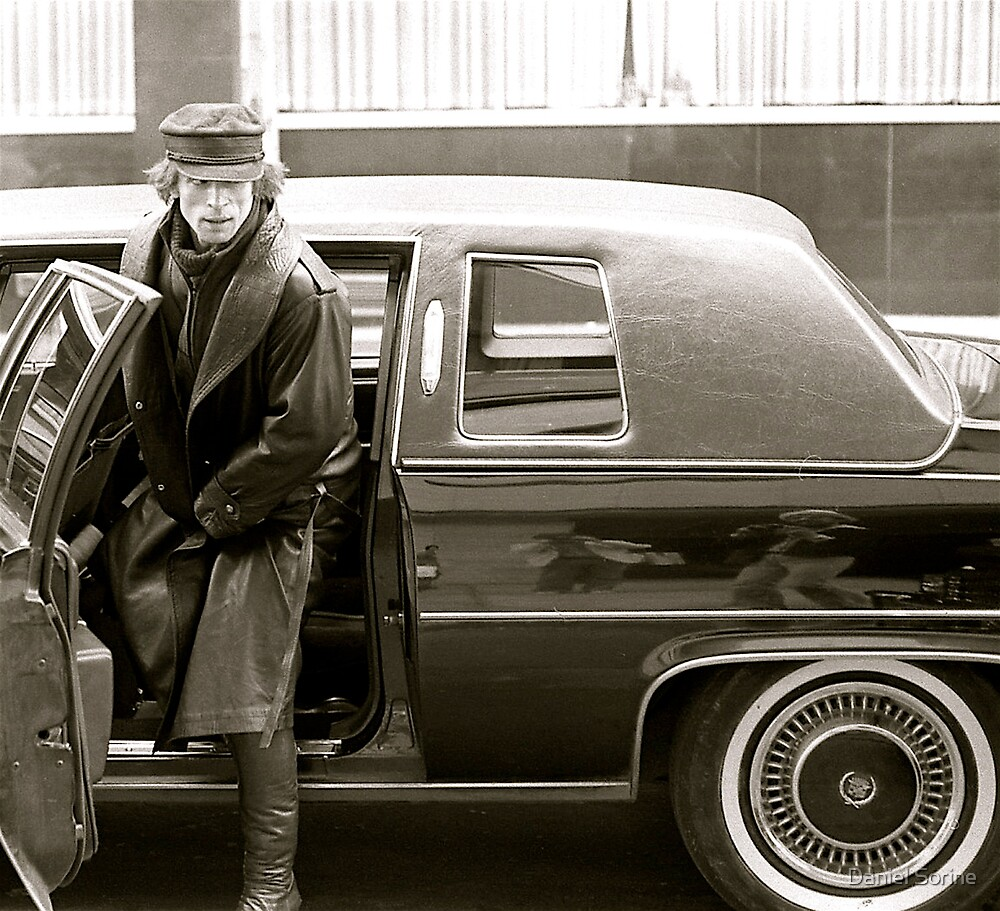 Rudolf Nureyev stepping out of a limo in 1979 by Daniel Sorine