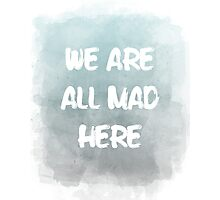 we are all mad here Photographic Print