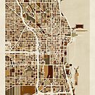 Chicago City Street Map by Michael Tompsett