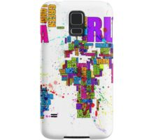 Paint Splashes Text Map of the World Samsung Galaxy Case/Skin