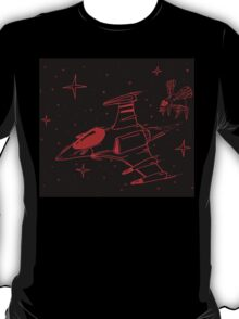 Galaga red and black  T-Shirt