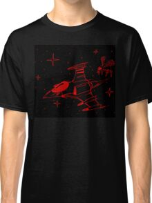 Galaga red and black  Classic T-Shirt