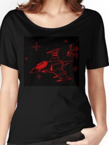Galaga red and black  Women's Relaxed Fit T-Shirt