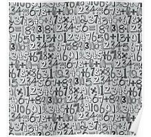 math doodle silver Poster