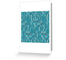 math doodle blue Greeting Card