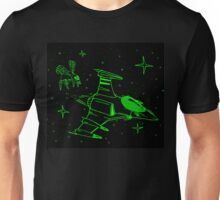 Galaga green and black  Unisex T-Shirt